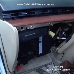 Nissan elgrand e51 cabin air filter install