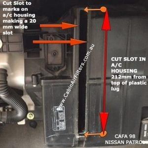 nissan patrol cabin air filter