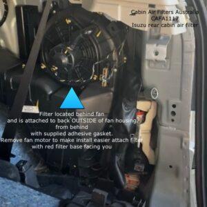 Isuzu MU-X rear cabin air filter CAFA1117